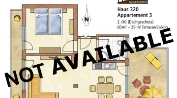 60 m² for 2 people at Sportplatzstrasse 320
